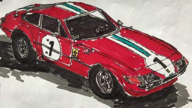 COLORING BOOK: Classic Sports and Vintage Race Cars.